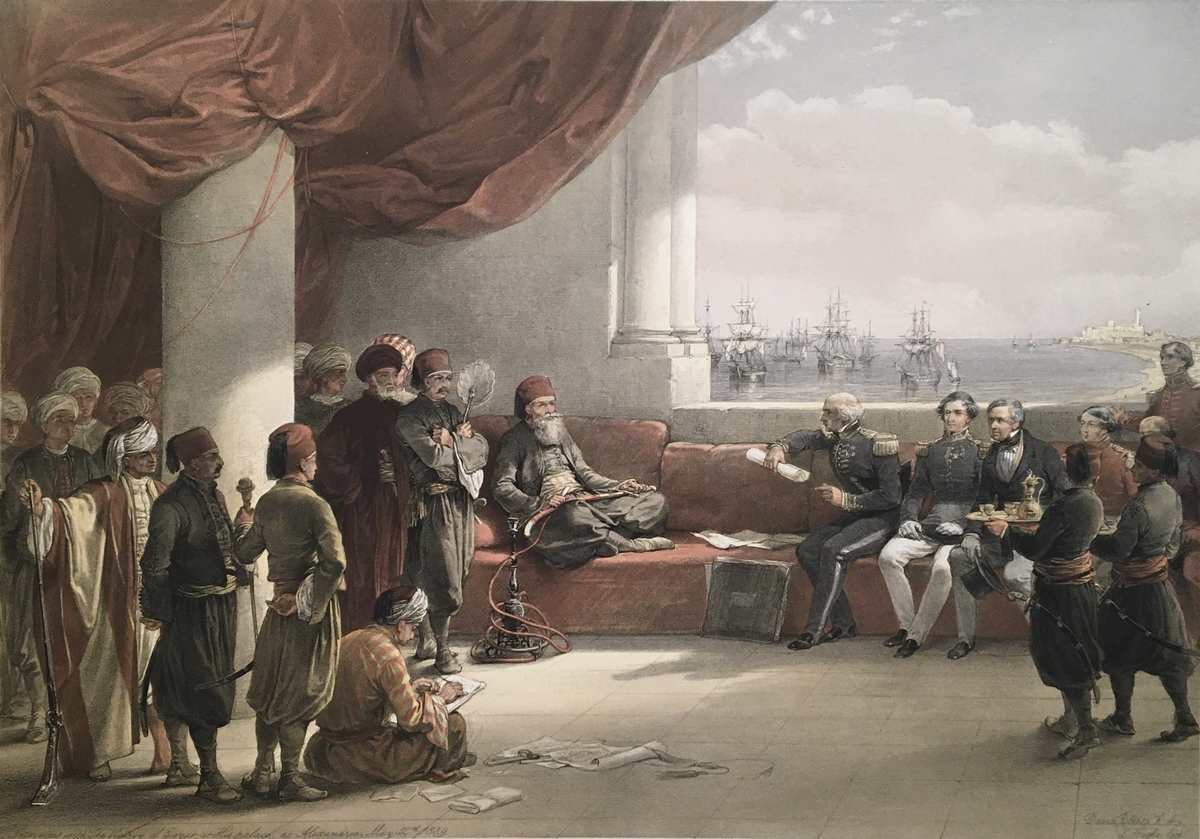 Interview with The Viceroy of Egypt at His palace, at Alexandria