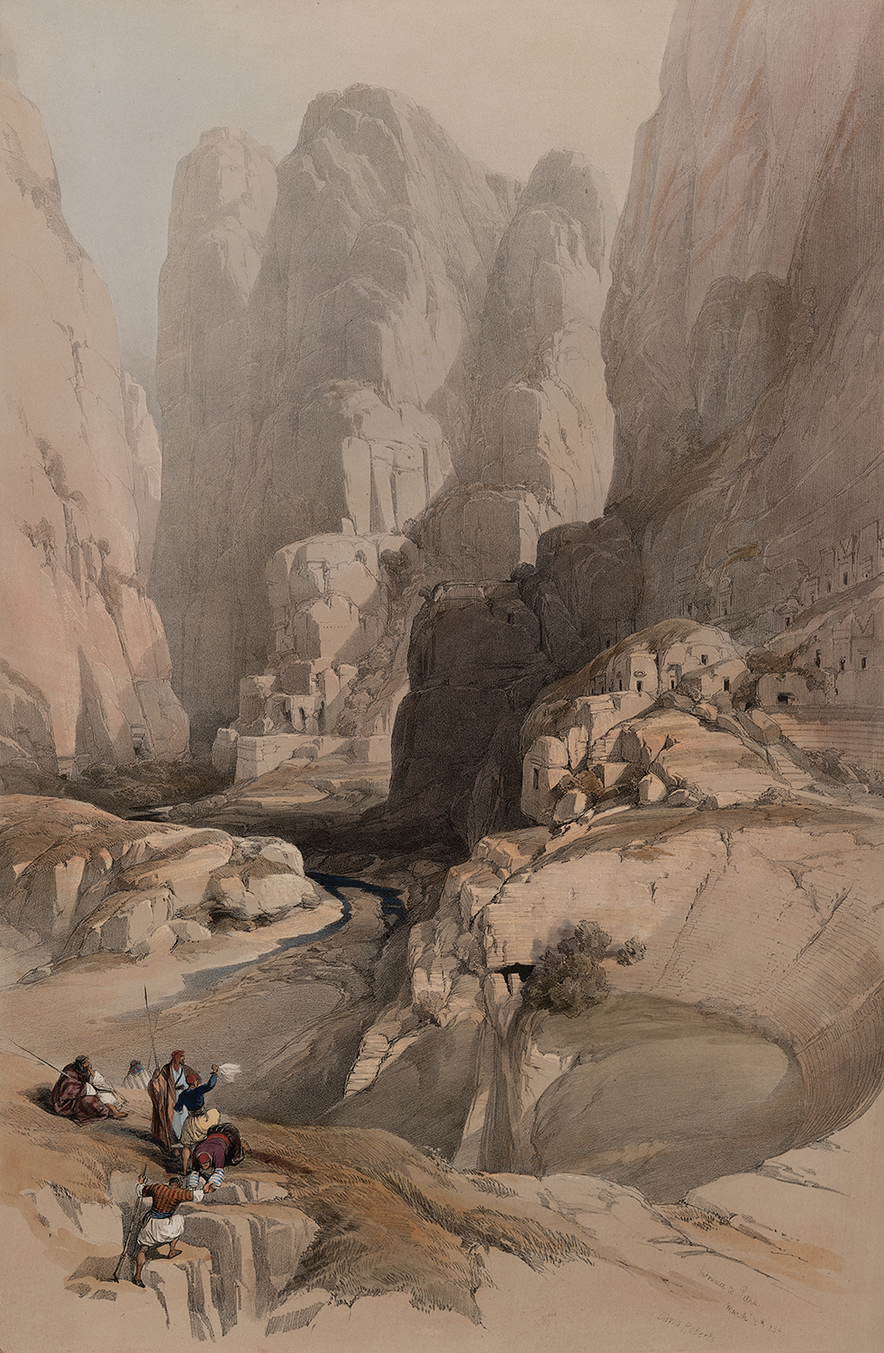 Entrance to Petra. March 10th 1839