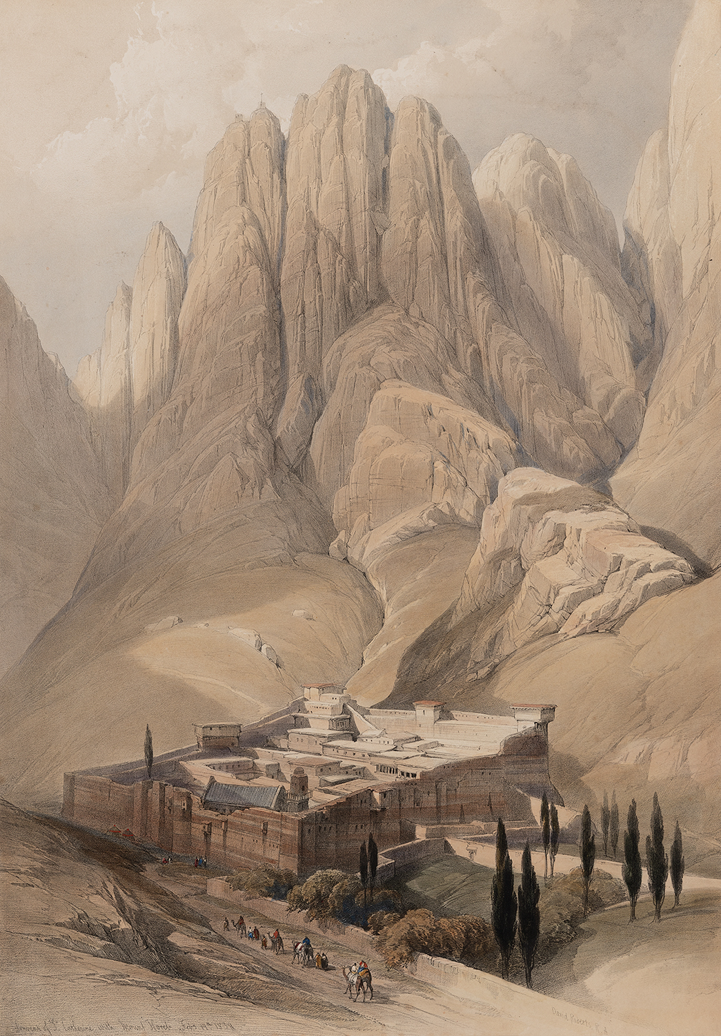 Convent of St Catherine with Mount Horeb. Feby 19th. 1839