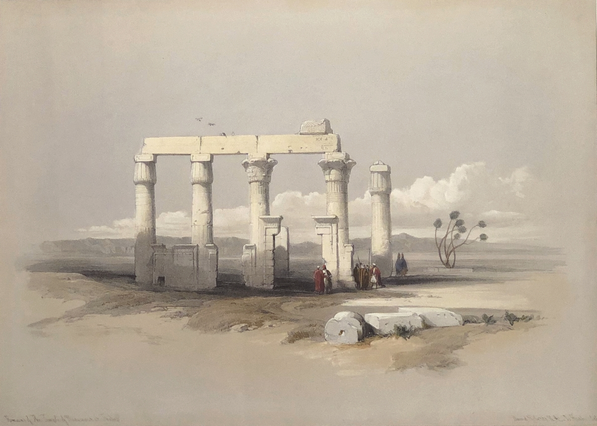 Remains of The Temple of Medamout at Thebes.