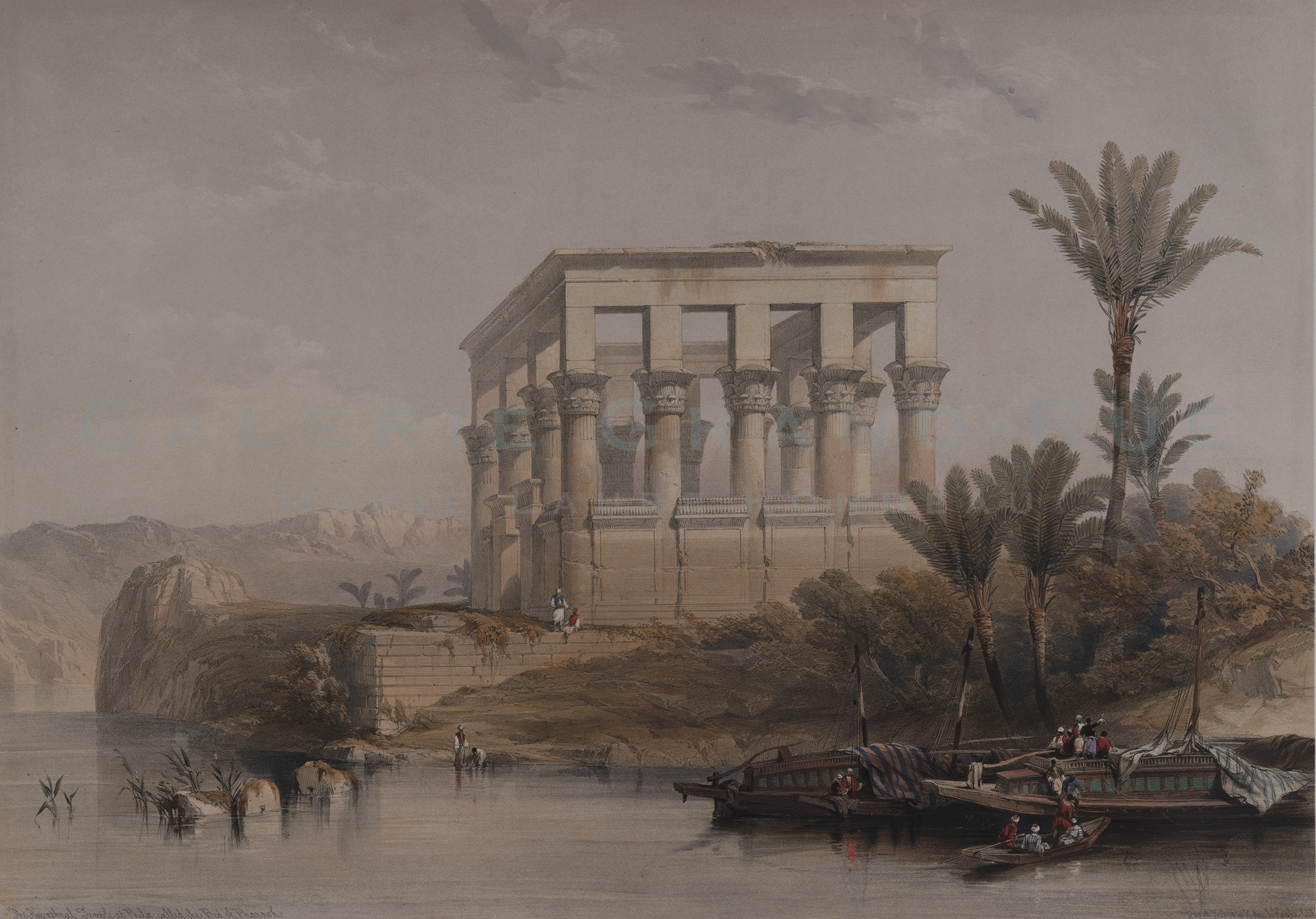 The Hypoethral Temple at Philae, called the Bed of Pharaoh.