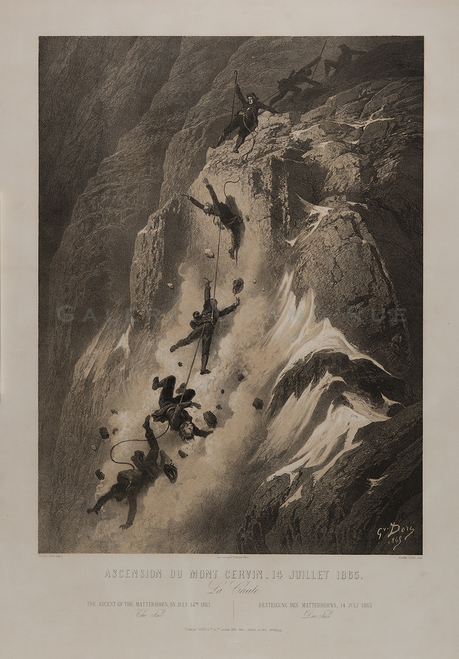 Ascension du Mont Cervin - 14 Juillet 1865. La Chute