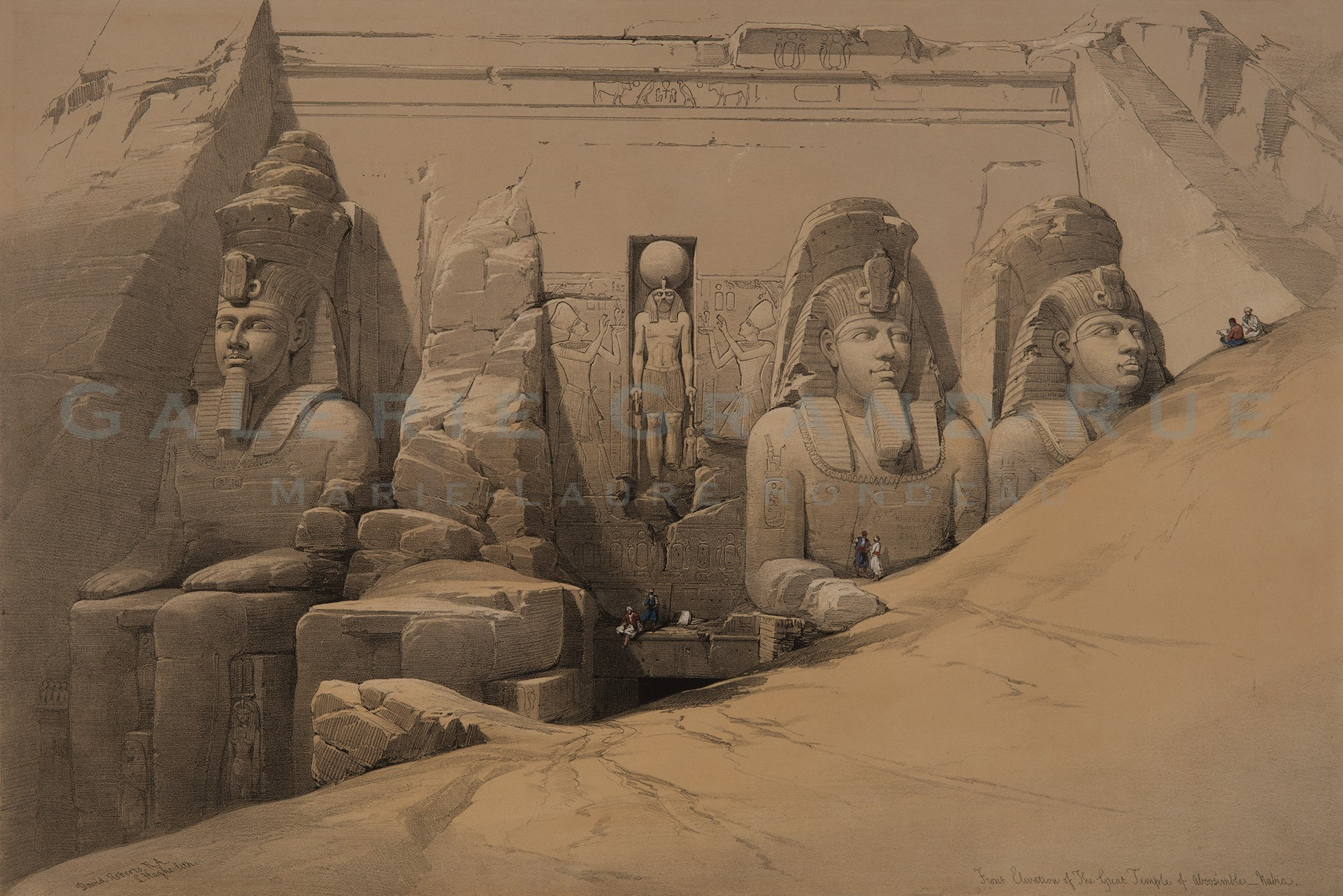 Front Elevation of The Great Temple of Aboosimble _ Nubia
