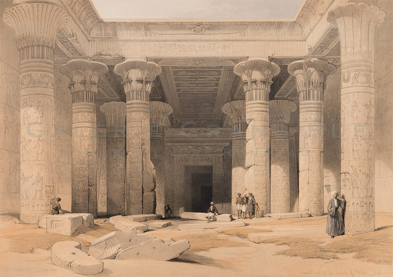 Grand Portico of The Temple of Philae - Nubia